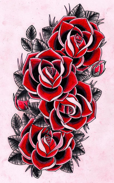 4 Roses By Kirzten On Deviantart Ideas And Designs