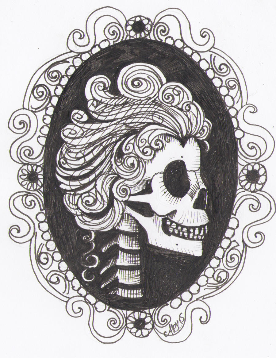 Skull Cameo Tattoo Design By Sanguineasperso On Deviantart Ideas And Designs