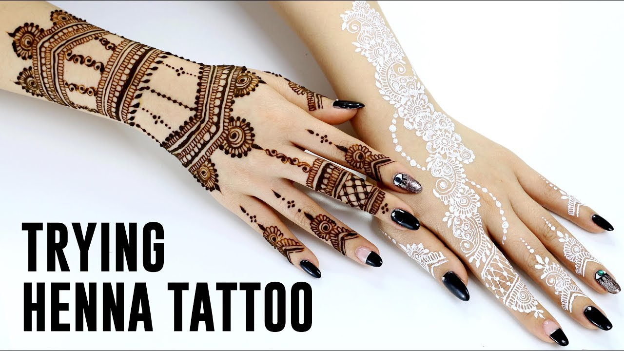 Trying Henna Tattoo Youtube Ideas And Designs