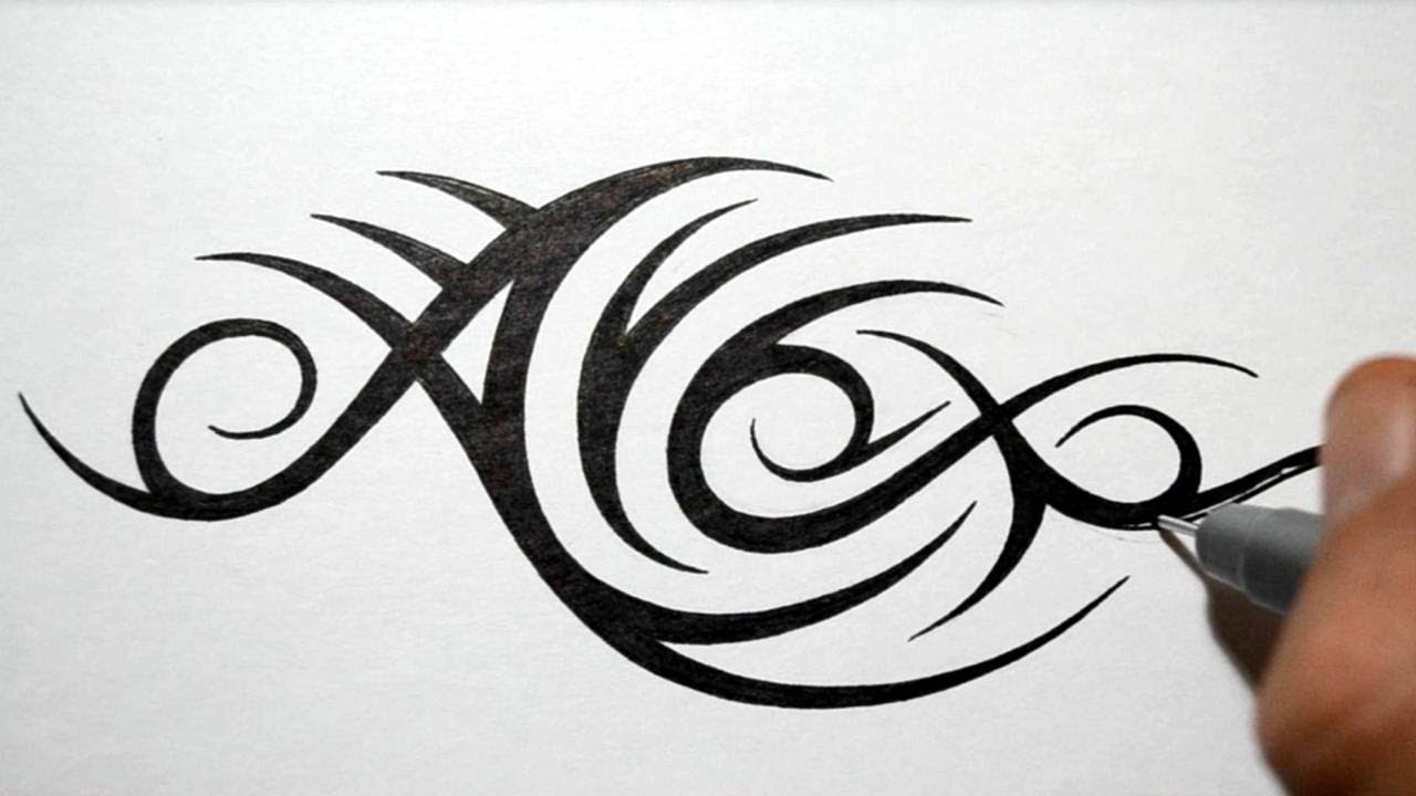 Designing Tribal Name Tattoo Design Alex Youtube Ideas And Designs