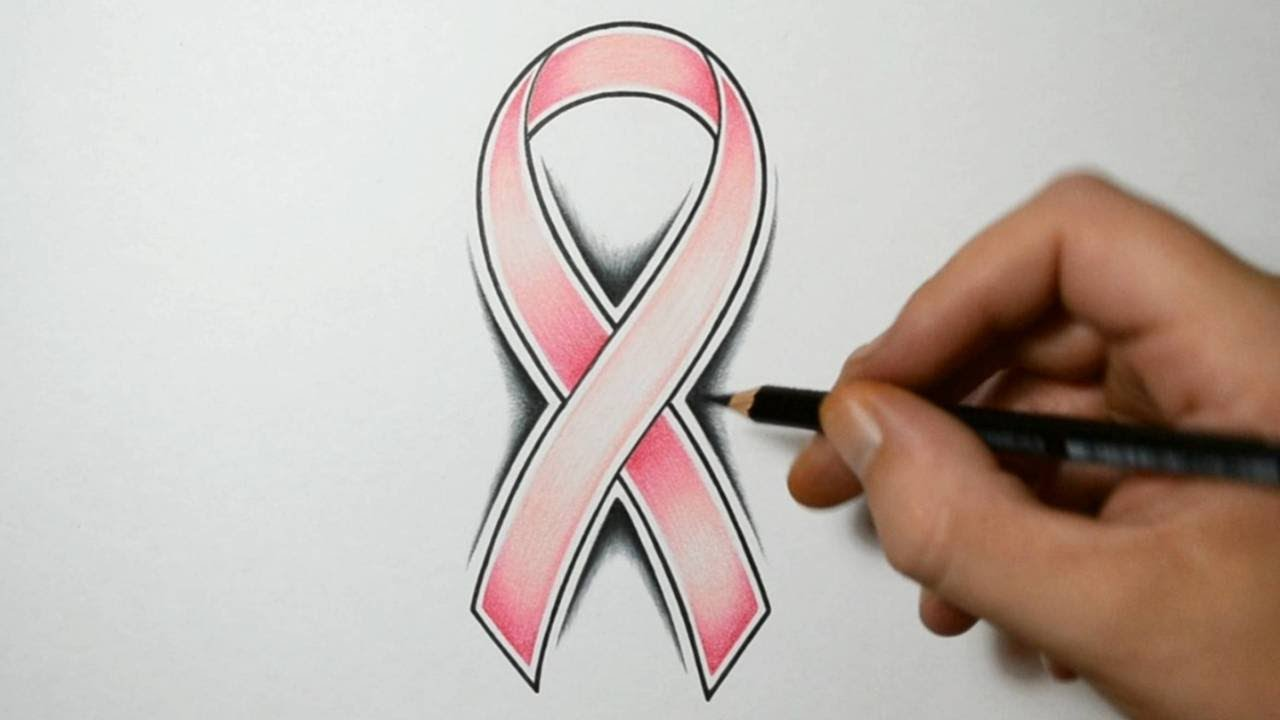 How To Draw A Cancer Ribbon Tattoo Design Style Youtube Ideas And Designs