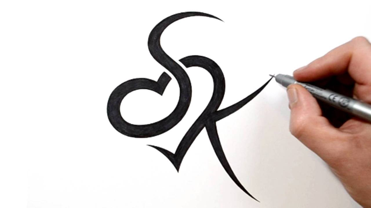 Combining Initials S And K With A Heart Tattoo Design Ideas And Designs
