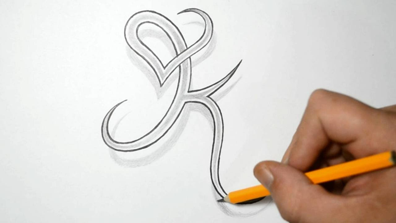 Letter K And Heart Combined Tattoo Design Ideas For Ideas And Designs
