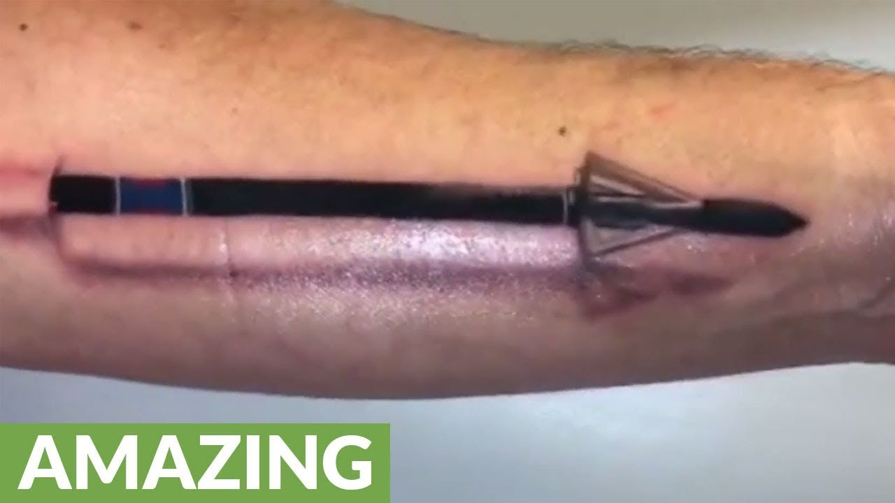 This 3D Arrow Tattoo Looks Incredibly Realistic Youtube Ideas And Designs