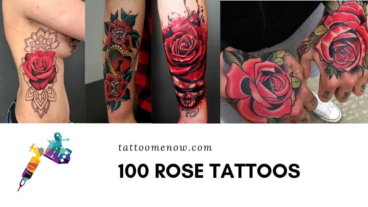 100 Beautiful Rose Tattoos Youtube Ideas And Designs