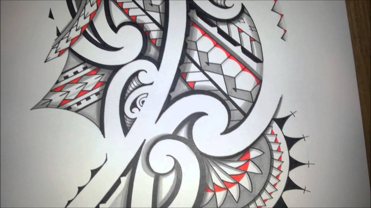 Awesome Maoristyle Drawing Handdrawn Tribal Tattoo With Ideas And Designs