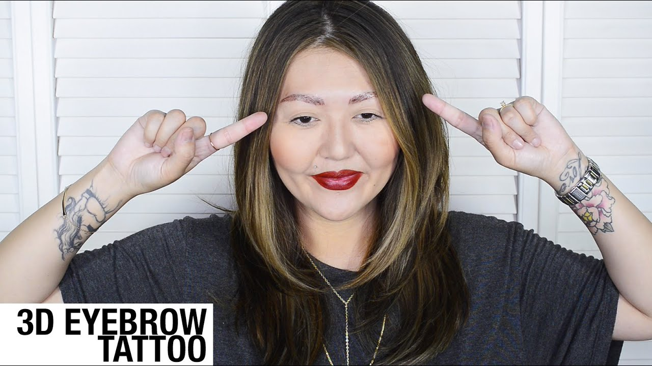 3D Eyebrow Tattoo Part 1 Day Of Experience Youtube Ideas And Designs