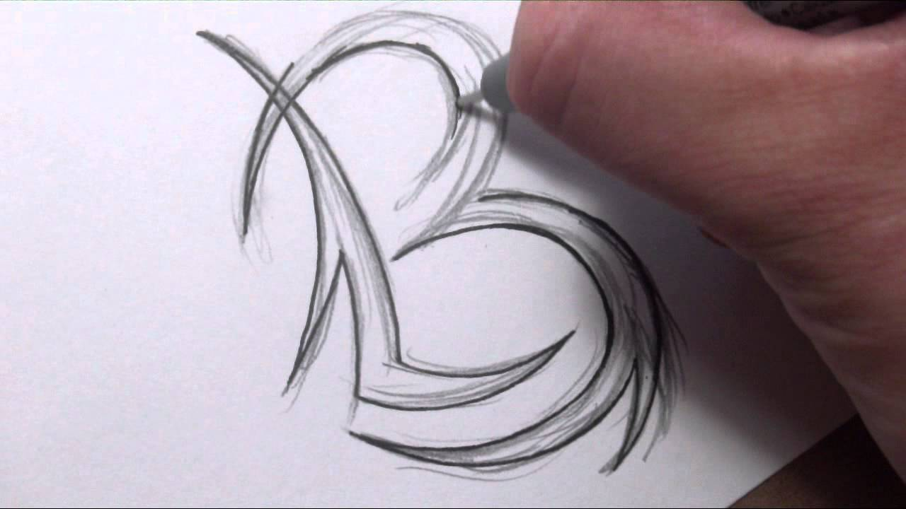 Drawing Initials Tattoo Design Combining Two Letters Ideas And Designs