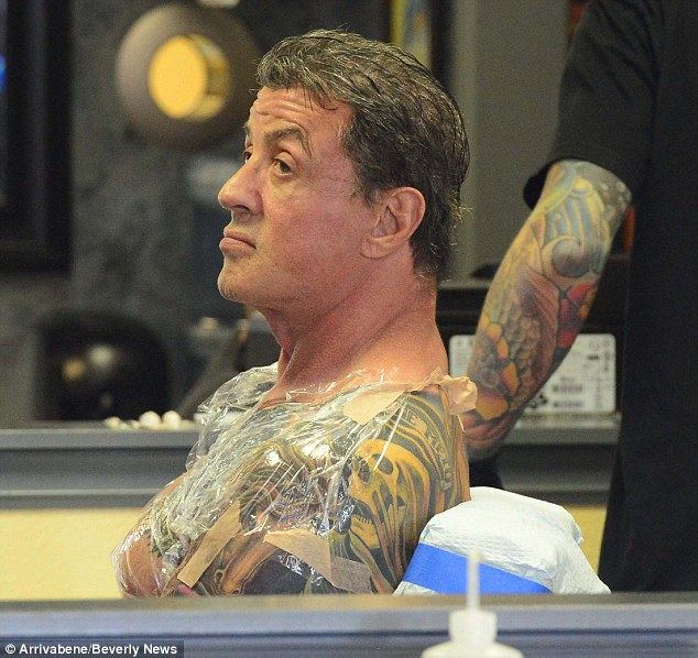 Sly Stallone 66 Adds To His Body Art Collection At Ideas And Designs