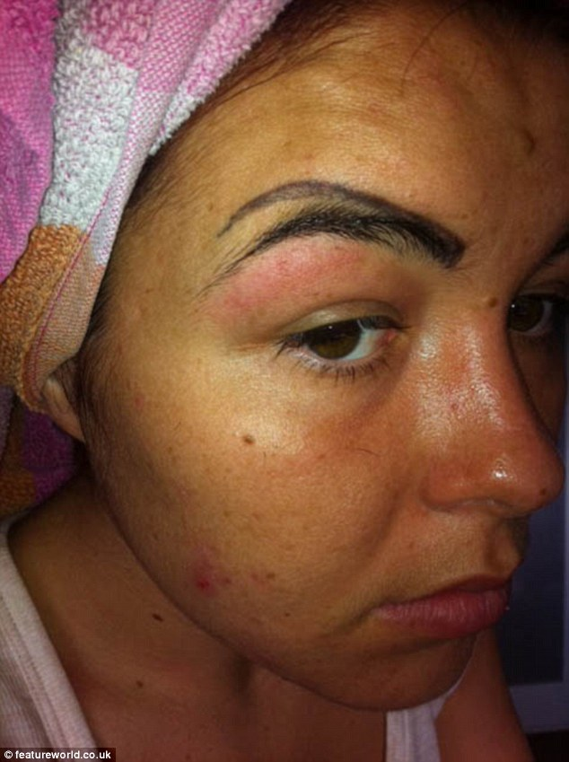 Woman Looks Like A Clown After Botched Eyebrow Tattoo Ideas And Designs