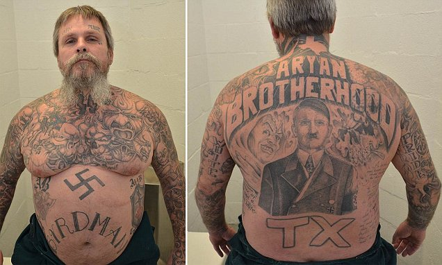 *Ry*N Brotherhood Kingpin Headed For Life Of Solitary Confinement In Texas Prison Daily Mail Ideas And Designs