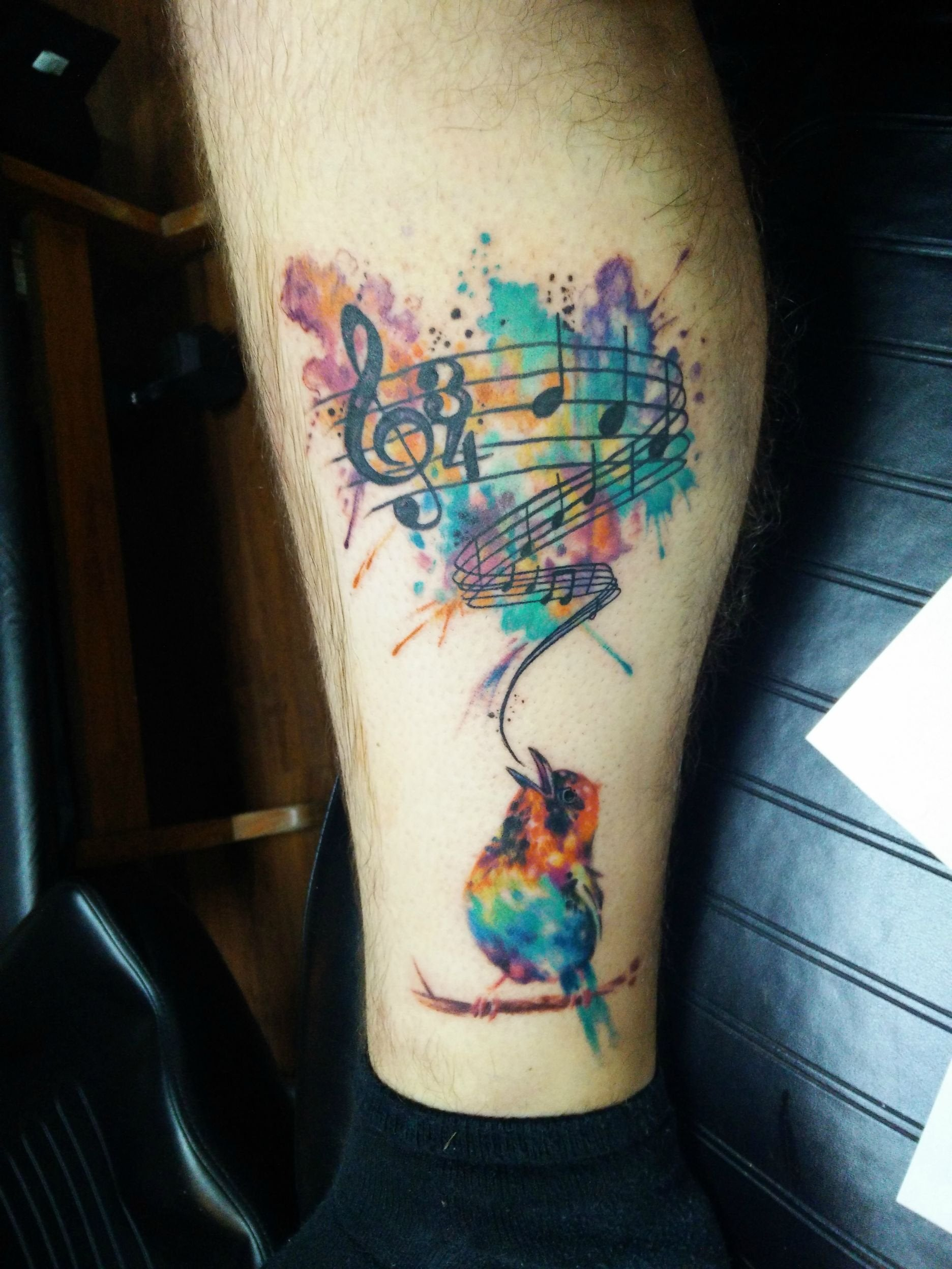 My Song Of Healing Tattoo Done By Marc Robertson Of Ideas And Designs