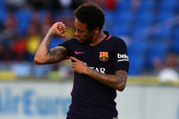 Neymar Shows Off New Tattoo As He Dedicates Hat Trick To Ideas And Designs