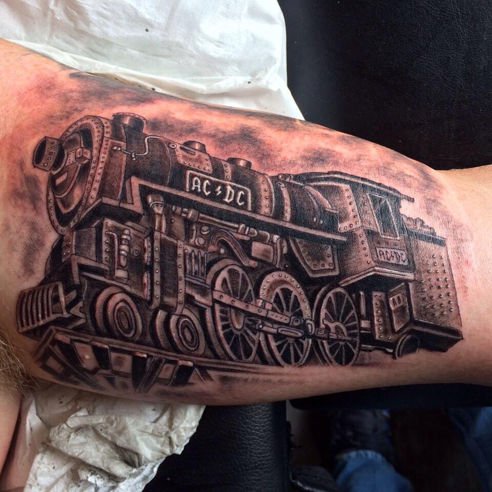 Revival Tattoos On Twitter Superb Ac Dc Train Done By Ideas And Designs