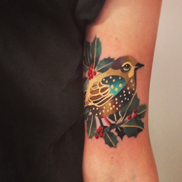 Colourful Bird Tattoo Tattoo Ideas Ideas And Designs