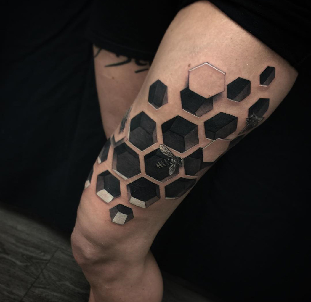 3D Bee Hive Best Tattoo Design Ideas Ideas And Designs