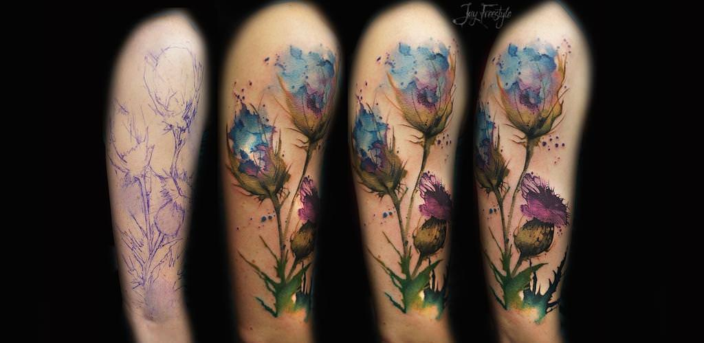 What Are Watercolor Tattoos How Quickly Do They Fade Ideas And Designs