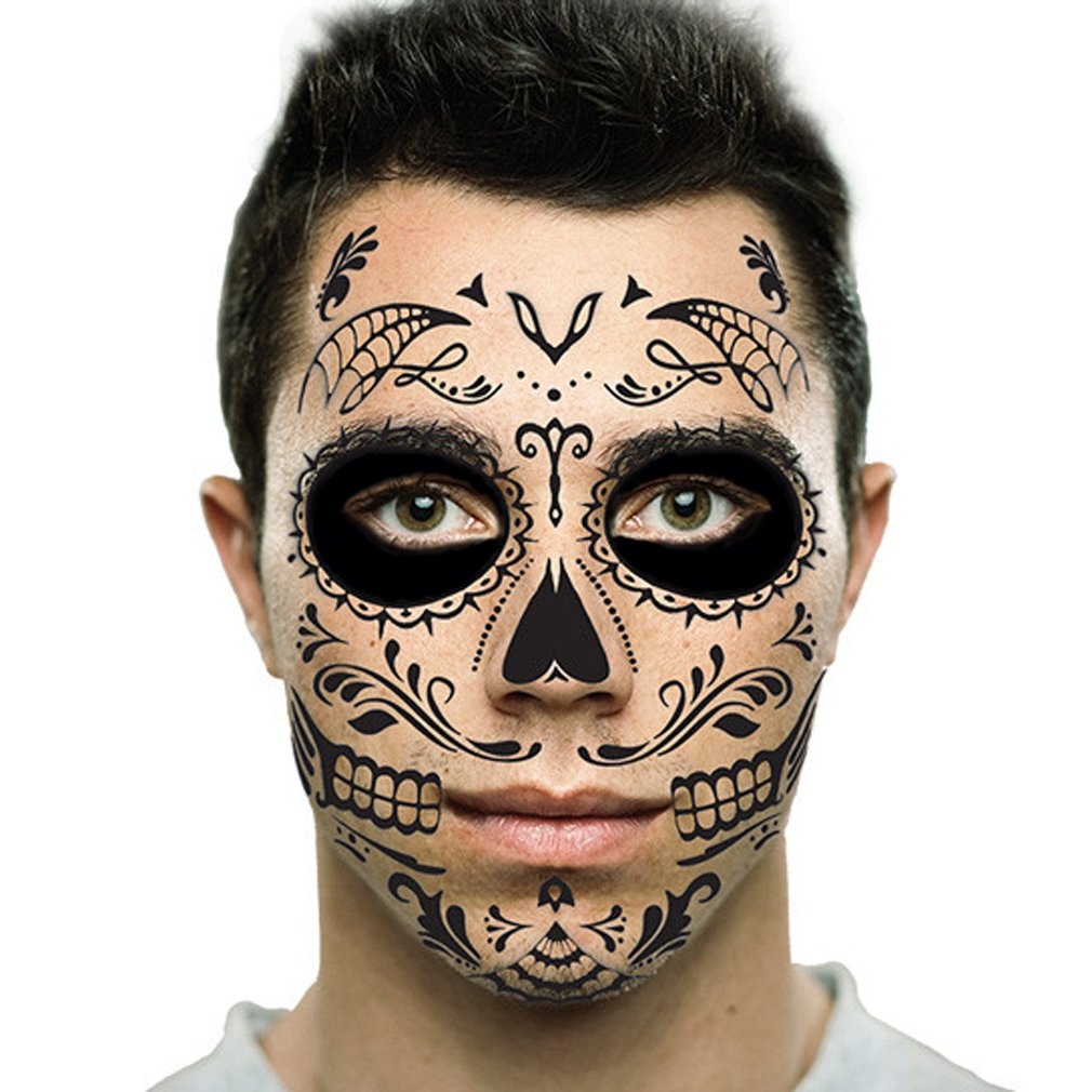 Amazon Com Day Of The Dead Sugar Skull Full Face Ideas And Designs