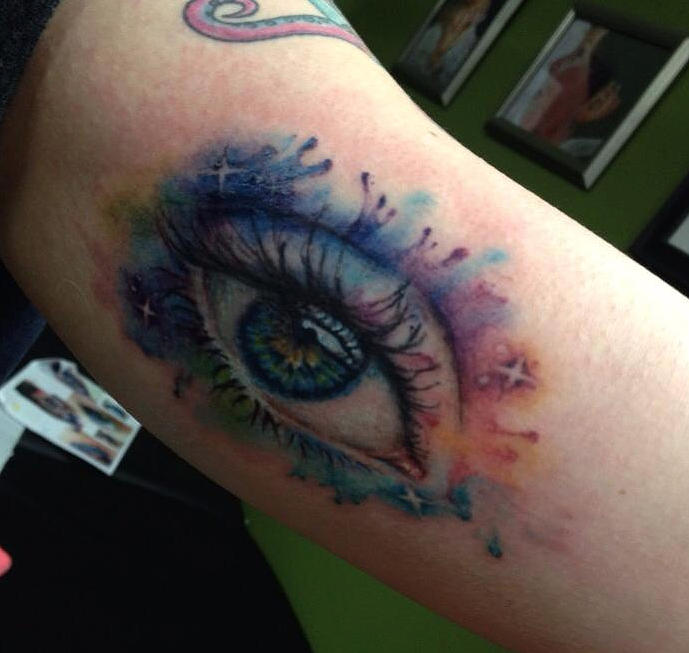 Watercolor Eye Tattoo Mixed Media By Cynthia Hart Ideas And Designs