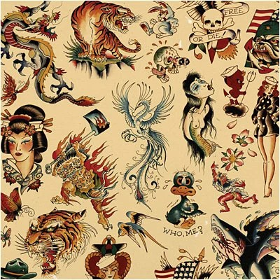 Sailor Jerry X Ed Hardy Old School Vintage Tattoo By Ideas And Designs