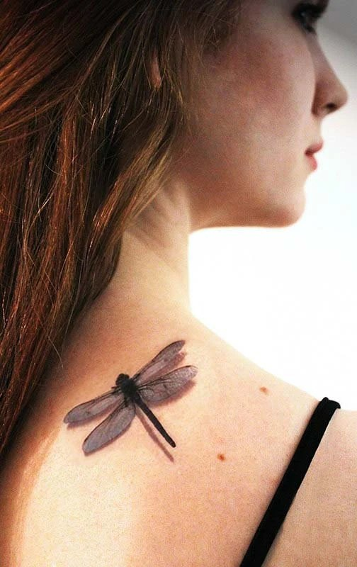 3D Dragonfly Temporary Tattoo By Tattoomint On Etsy Ideas And Designs