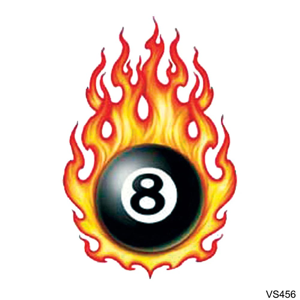 Specialbuy 1 Get 1 Free Flaming 8 Ball By Tattoogirlsrule Ideas And Designs