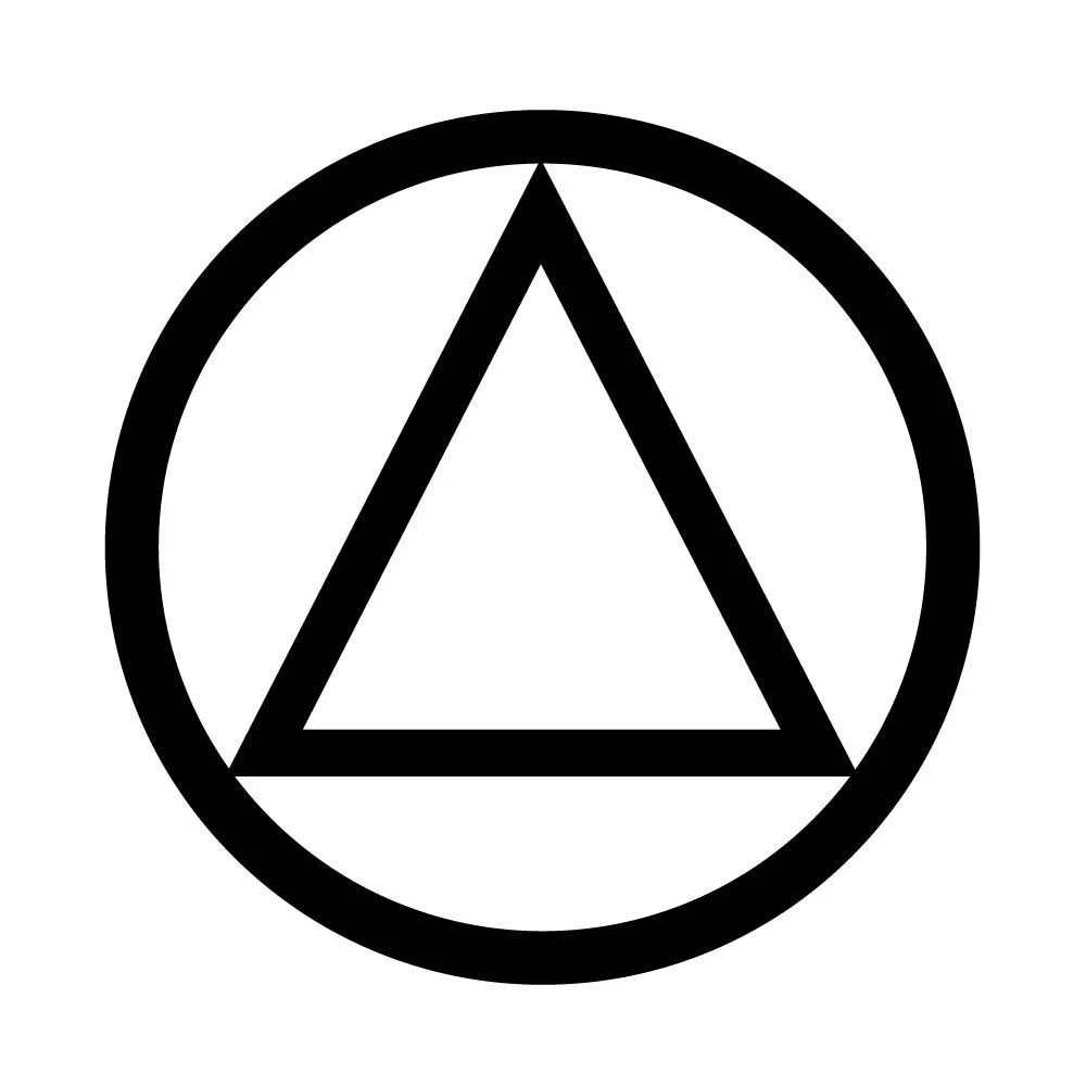 Aa Sobriety Circle And Triangle Temporary Tattoo Recovery Ideas And Designs