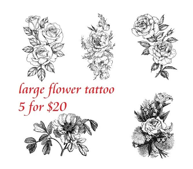Temporary Tattoo Camellia Rose Black And White Flowers Ideas And Designs