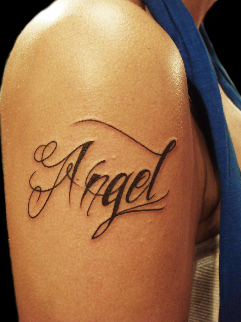 Angel Tattoo Yeap My Name Miguel Angel Custom Tattoo Ideas And Designs