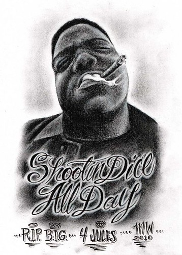 Biggie Smalls In Charcoal Matthew Wolf Tattoos Flickr Ideas And Designs