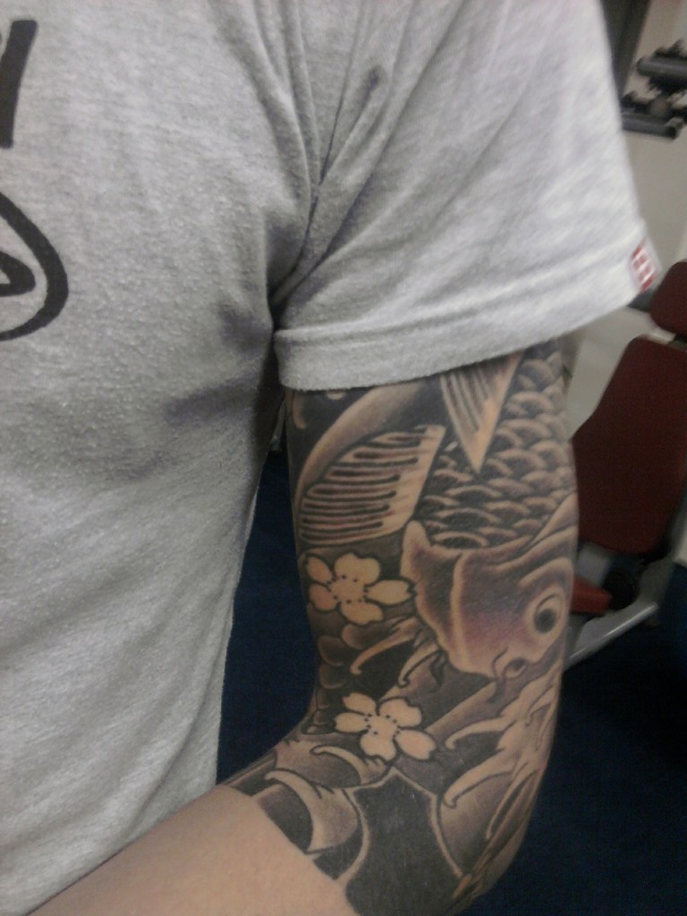 Koi Japanese Tattoo 3 4 Sleeve Strachan1982 Flickr Ideas And Designs