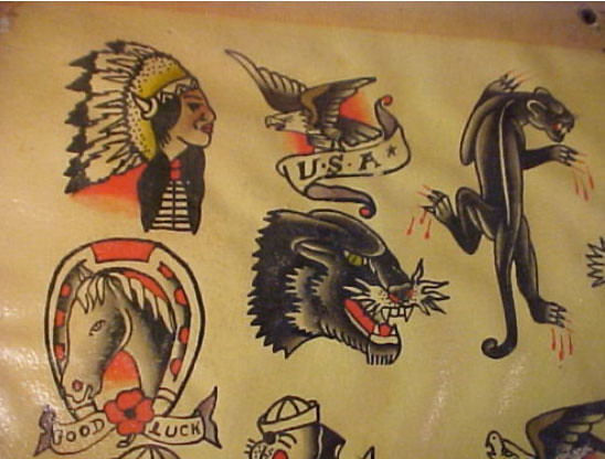 1950S Sheet 2 Vintage Tattoo Flash Flickr Ideas And Designs Original 1024 x 768