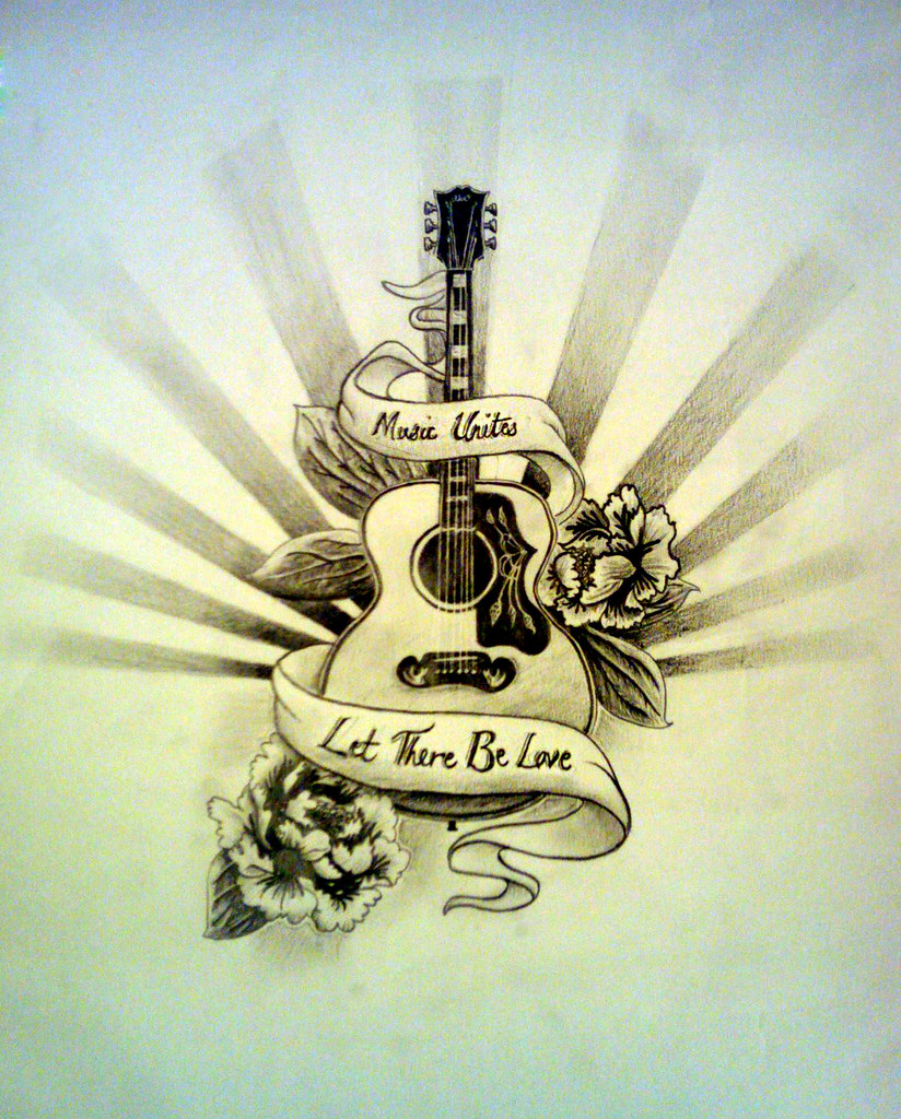 Guitar Tattoo Amy Shore Flickr Ideas And Designs