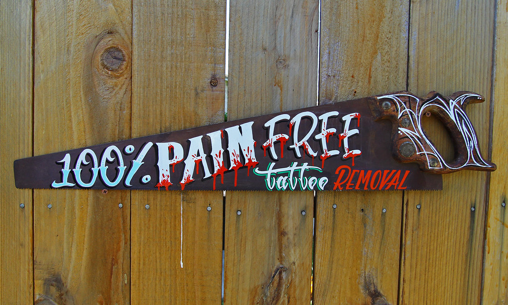 100 Pain Free Tattoo Removal Hand Painted By Yours Ideas And Designs