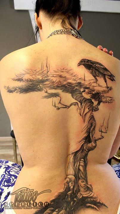 Baum Und Vogel Tattoo Sperlich Tattoo Flickr Ideas And Designs