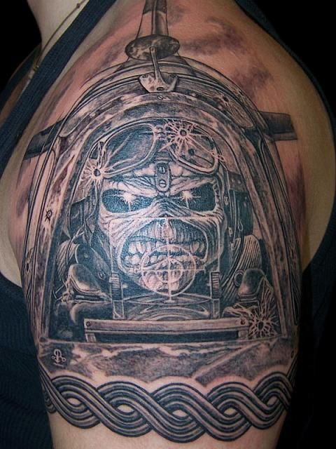 Iron Maiden Aces High Tattoo By Martin Urbanc At Gandalf Ideas And Designs