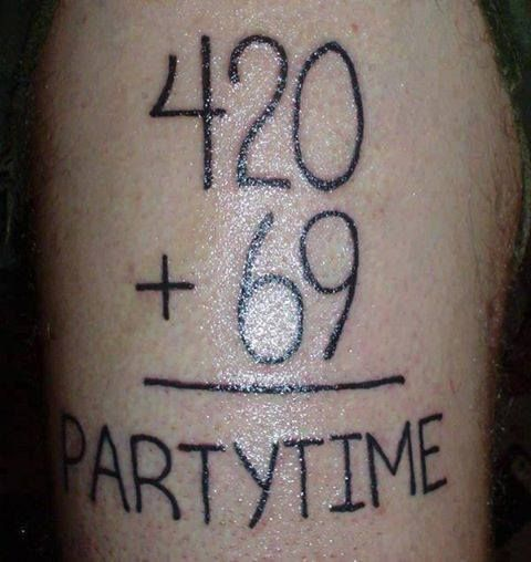 420 Plus 69 Equals Party Time M*R*J**N* Memes W**D Ideas And Designs