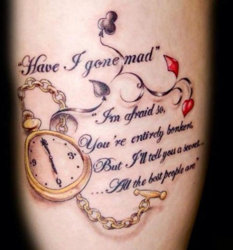 70 Inspirational Tattoo Quotes Awesome Alice In Ideas And Designs