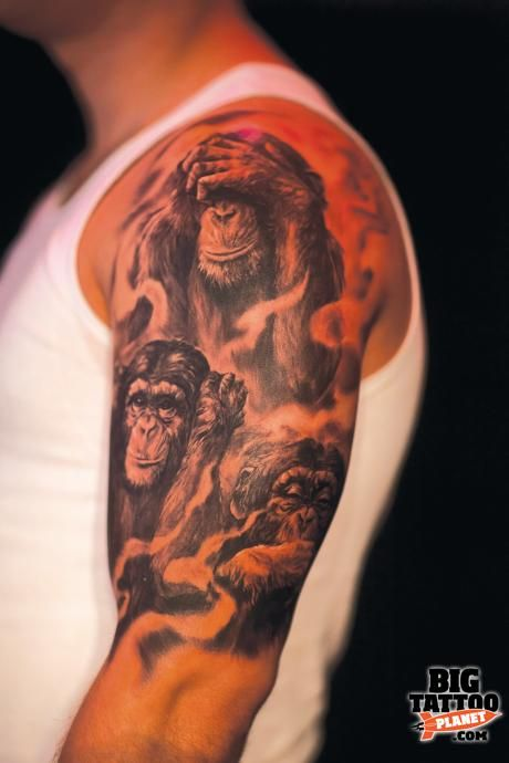 Three Wise Monkeys Tattoo Designs Google Search Ideas And Designs