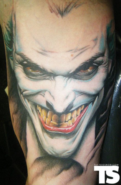 20 Coolest Comic Book Inspired Tattoos 19 The Joker Ideas And Designs