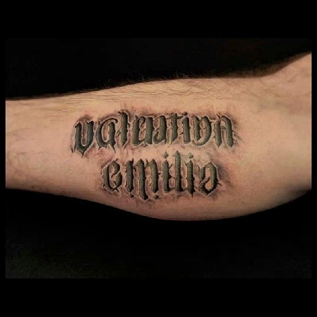3D Effect Lettering Tattoo By Analisbet Luna Analisbet Ideas And Designs