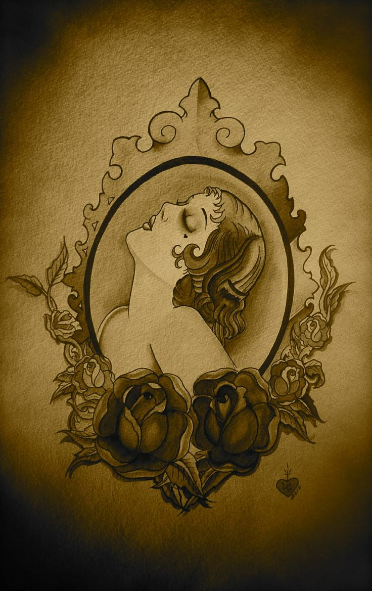 20 S Lady Cameo Tattoo Cameotattoo My Pinterest Ideas And Designs