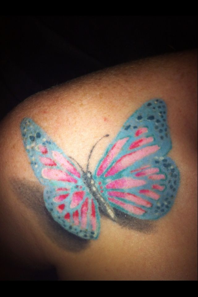 3D Butterfly Tattoo Tattoos Pinterest Butterfly Ideas And Designs