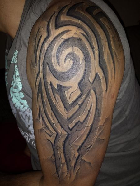 3D Effect Stonework Tattoo Tattoos Pinterest 3D And Ideas And Designs