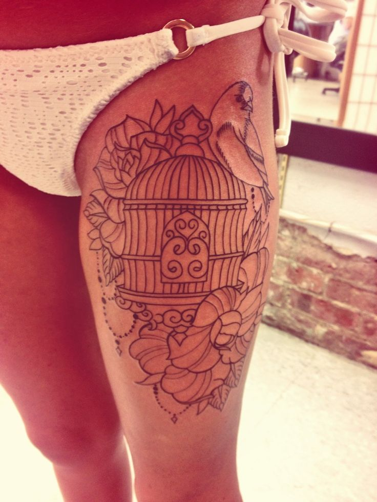 My New Bird Cage Tattoo Tattoos Pinterest A Well Ideas And Designs