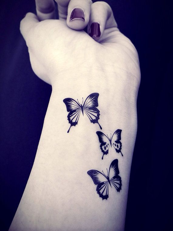 3Pcs Butterfly Tattoo Inknart Temporary Tattoo Spring Ideas And Designs