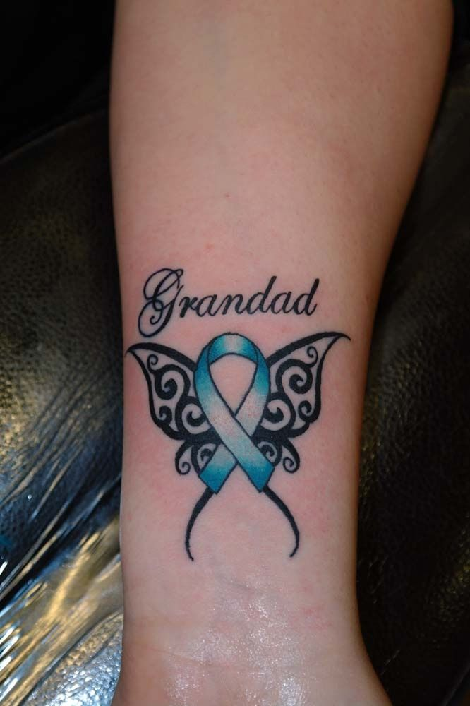Cancer Ribbon Tattoos Cancer Ribbon Butterfly Tattoos Ideas And Designs