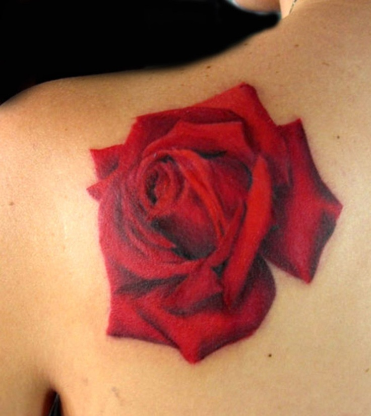 Red Rose Tattoo By Tiffany Garcia Tattoos Flower Plant Ideas And Designs