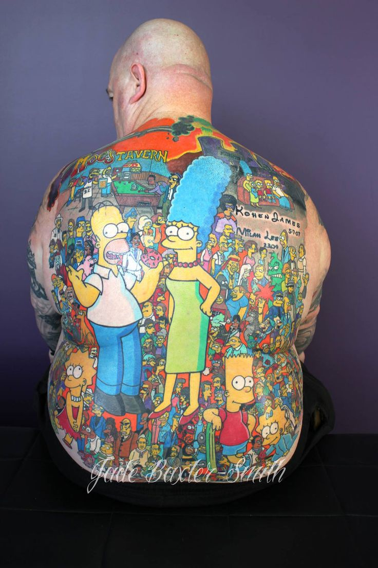 An Impressive Huge Back Tattoo Featuring Over 200 Ideas And Designs