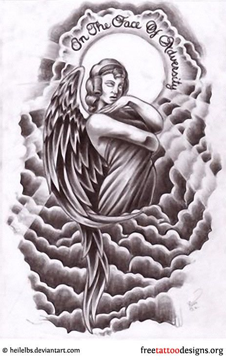 Angle Cloud Design Tattoo Angel Tattoos Angel Wings Ideas And Designs